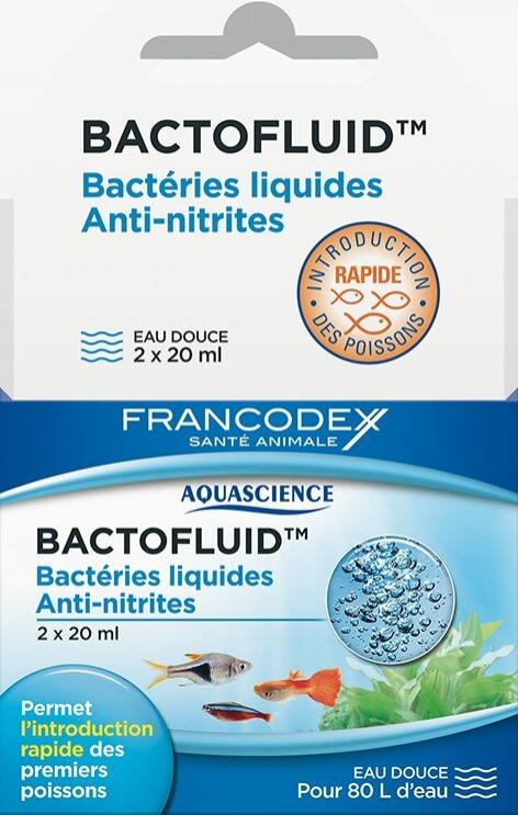 Aquascience Bactofluid 2 x 20ml - intégration rapide des poissons en eau douce
