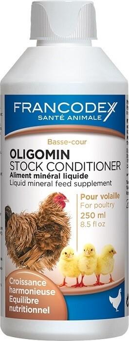 FRANCODEX OLIGOMIN 250ml - Aliment minéral volailles et palmipèdes