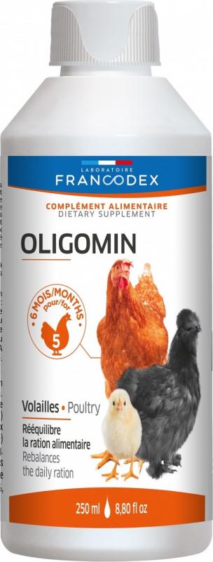 Francodex Oligomin 250ml - Mineralfutter Geflügel und Palmipeds