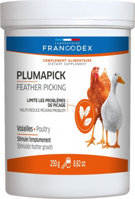 Francodex Plumapick 250g - Aliment minéral volailles et palmipèdes