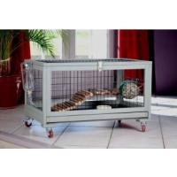 Kaninchenstall INLAND für Kaninchen, Frettchen und Meerschweinchen - 80cm