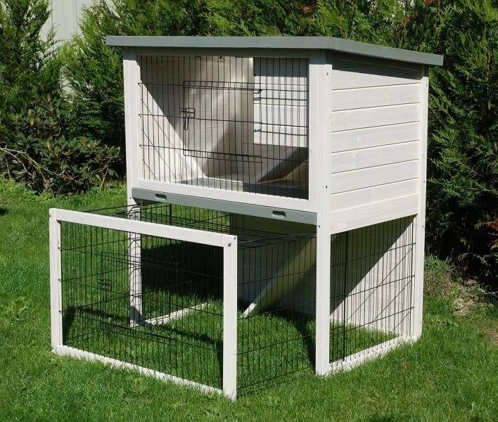 Clapier villa cage lapin clapier lapin for Cage lapin nain exterieur