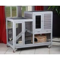 Clapier d'intérieur RESTLAND - cage à lapin (1)