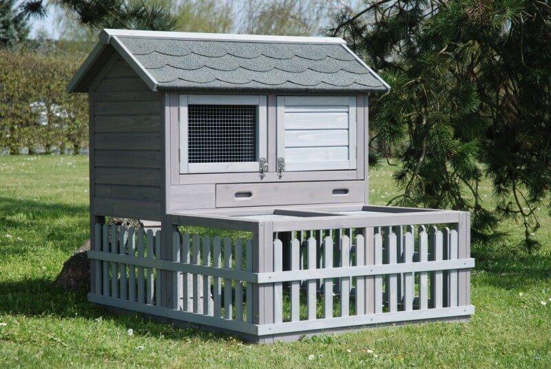 Clapier village cage lapin clapier lapin for Cage exterieur pour lapin pas cher