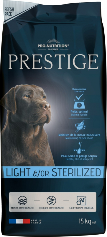 PRO-NUTRITION Flatazor PRESTIGE Light & Sterilized per Cani Adulti Sterilizzati o in Sovrappeso