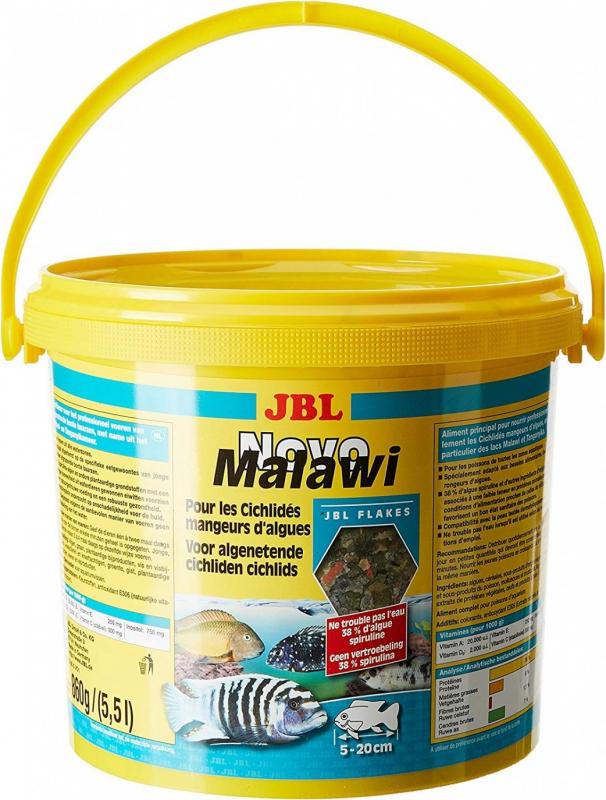 JBL Novo Malawi Nourriture pour cichlidés des lacs Malawi / Tanganyika