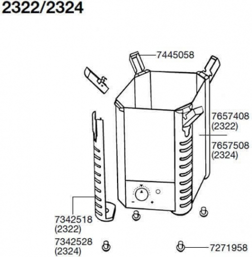 Pièces détachées pour filtre externe Eheim Professionel 2222, 2224, 2322, 2324