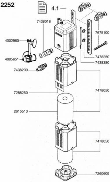 Pièces de rechange pour filtre Eheim PowerLine 2252