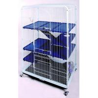 Cage BIG TOWER bleu / blanc 80 cm chinchillas furets et rats (1)