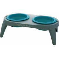 Set of 2 silicon 500ml bowls with stand