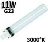 Lampadina fluorescente 11W, culot G23.