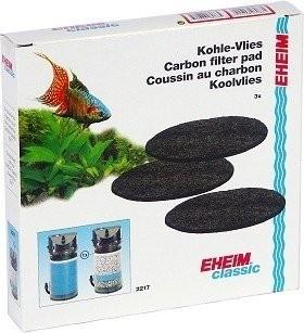 Mousses filtrante x3 au charbon actif pour filtre Eheim Classic 2217
