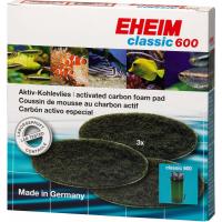 Mousses filtrantes x3 au charbon actif pour filtre Eheim Classic 2217