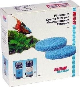 Coussins de mousse bleu filtrante x2 pour filtre Eheim Classic 2217
