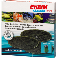 Carbon Filter Pads for Eheim Classic 2215 Filters (Pack of 3)