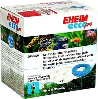 Eheim Set of Coarse Filter Pad and Fine Filters Pads for Ehiem Ecco Pro 2032, 2034, 2036 Filters