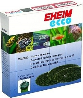 Eheim Ecco Activated Carbon Foam Pads for Eheim Ecco 2032, 2034 and 2036 Filters