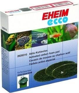 Coussins de mousse x3 au charbon actif pour filtre Eheim Ecco pro 2032, 2034, 2036