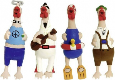 Jouet en latex Crazy Chicken