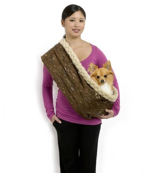 echarpe porte skippy pour petits chiens et chiots sac. Black Bedroom Furniture Sets. Home Design Ideas