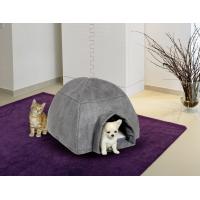 Casita cosy iglú gris - para perros pequeños y gatos