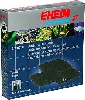 Mousses au charbon actif x3 pour filtre Eheim professionel 3e 2076 et 2078