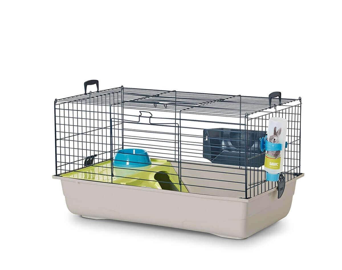 cage nero 3 deluxe pour lapin et cochon d 39 inde 100cm. Black Bedroom Furniture Sets. Home Design Ideas