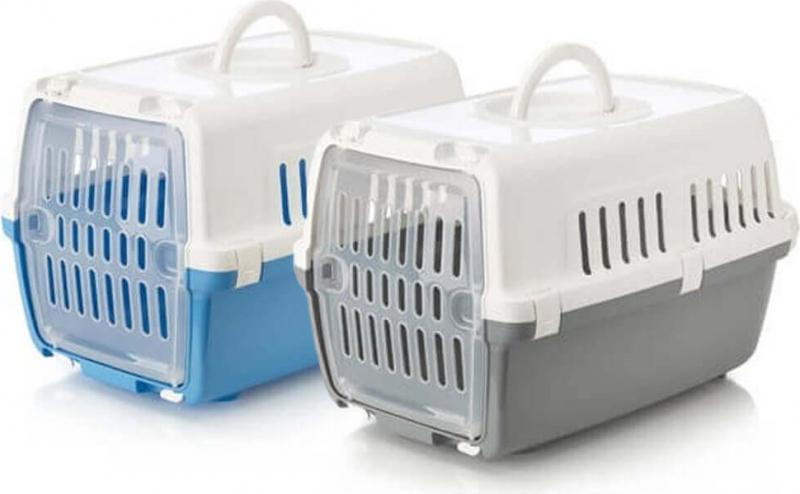 Caisse de transport ZEPHOS pour chat et petit chien