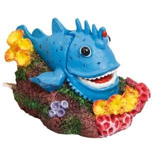 D coration pour aquarium poisson bleu avec diffuseur d 39 air for Decoration pour poisson