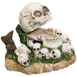décoration aquarium tete de mort