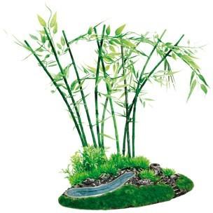 déco aquarium bambou