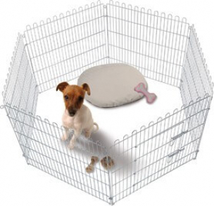Parque para cachorros puppy run barrera y escalera - Escaleras para perros pequenos ...