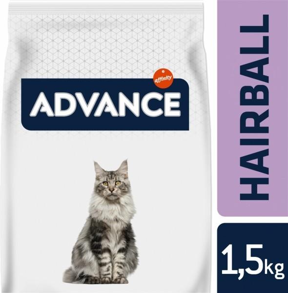 Advance Cat Hairball Dinde & Riz pour Chat Adulte - Anti Boules de Poils