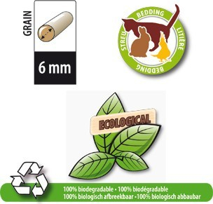 Natural Wood Pellet Litter for Cats and Small Pets