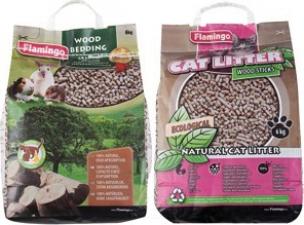 Ökologisches Einstreu aus Holzgranulat für Nagetiere und Katzen