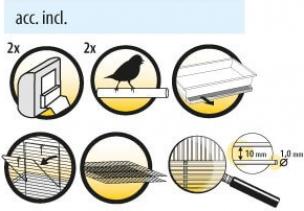 Jaula plegable para pájaros - DOLAK