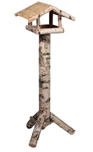 Maison d 39 hiver sur pied pour oiseau rotano mangeoire - Nichoir oiseau sur pied ...