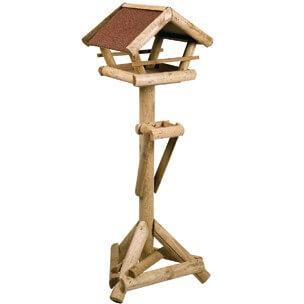 Maison d 39 hiver sur pied pour oiseau larix mangeoire et - Nichoir oiseau sur pied ...