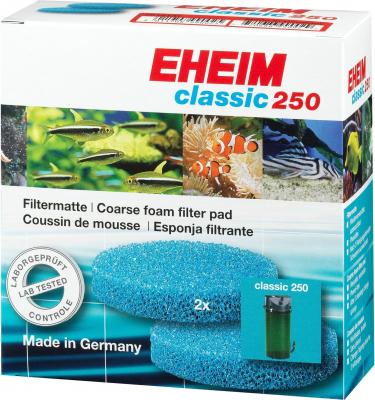 Coussins de mousse pour aquarium bleu filtrante x2 pour filtre d'aquarium Eheim Classic 2213 et classic 250