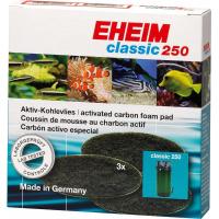3x Aktivkohle-Filtermatten für Aquarium-Filter von EHEIM Classic 2213