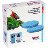 Coussins de mousse bleu filtrante x2 pour filtre Eheim Classic 2215