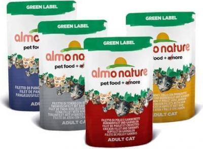 Paté Almo Nature Green Label para gatos - Diferentes sabores