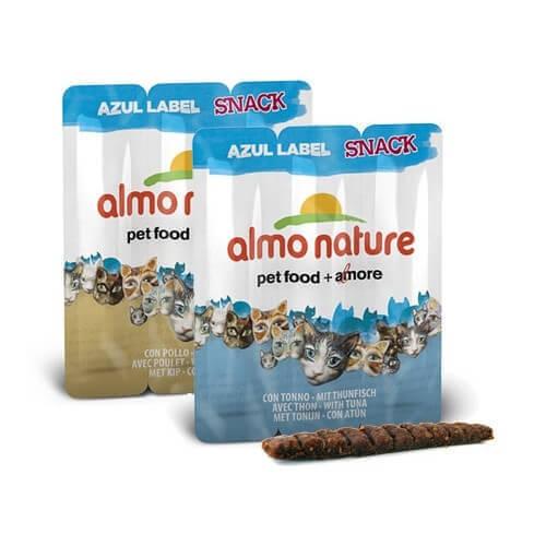 Snack Almo Nature Azul Label para gato - Diferentes sabores  _0