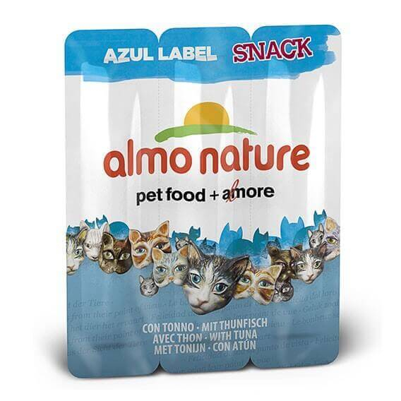 Snack Almo Nature Azul Label para gato - Diferentes sabores  _1