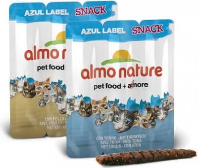 Snack Almo Nature Azul Label para gato - Diferentes sabores