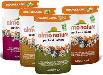 Paté Almo Nature  Orange Label Bio para gato - Diferentes sabores