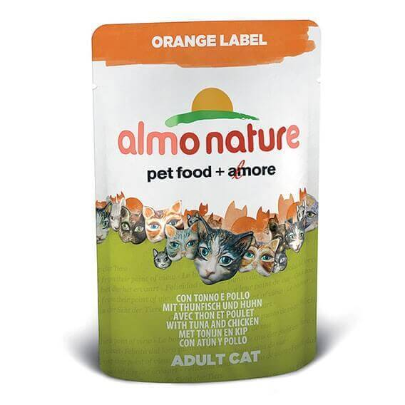 Paté Almo Nature Orange Label para gato - Diferentes sabores _1