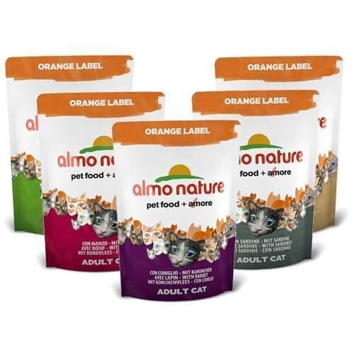 Croquettes Almo Nature Orange Label - Croquettes pour chat - Différentes saveurs_0