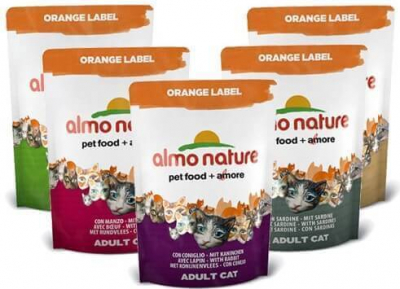 Pienso Almo Nature Orange Label - Pienso para gato - Diferentes sabores.