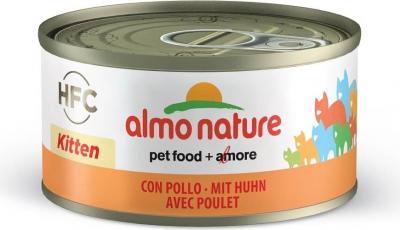 Pâtée ALMO NATURE HFC kitten au Poulet pour chatons